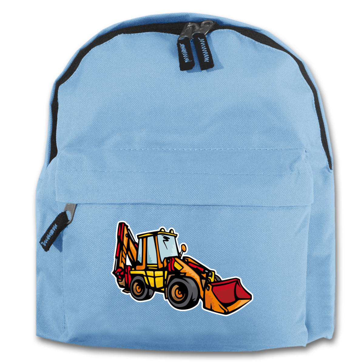 kinder rucksack baggerlader f r schule und freizeit 7 farben 25x30x12 cm ebay. Black Bedroom Furniture Sets. Home Design Ideas
