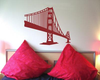 Golden Gate Bridge Wandtattoo Wandtattoo