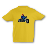 Kinder T-Shirt Old School Chopper Kinder T-Shirt Modellnummer 001598-020-998  goldgelb/farbiger Aufdruck