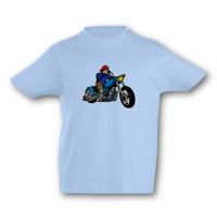 Kinder T-Shirt Old School Chopper Kinder T-Shirt Modellnummer 001598-056-998  hellblau/farbiger Aufdruck