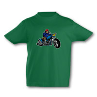 Kinder T-Shirt Old School Chopper Kinder T-Shirt Modellnummer 001598-902-998  grün/farbiger Aufdruck