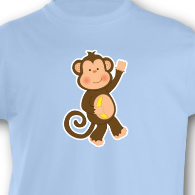 Kinder T-Shirt Affe Kinder T-Shirt