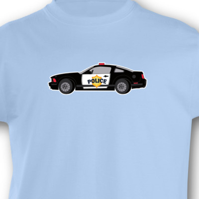 Kinder T-Shirt Polizeiauto Kinder T-Shirt