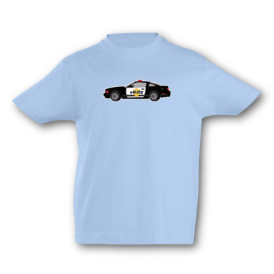 Kinder T-Shirt Polizeiauto