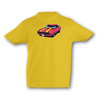 Kinder T-Shirt Pony Car Kinder T-Shirt Modellnummer 001633-020-998  goldgelb/farbiger Aufdruck