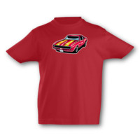 Kinder T-Shirt Pony Car Kinder T-Shirt Modellnummer 001633-904-998  rot/farbiger Aufdruck