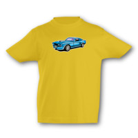 Kinder T-Shirt Muscle Car Kinder T-Shirt Modellnummer 001636-020-998  goldgelb/farbiger Aufdruck