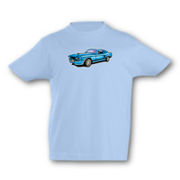 Kinder T-Shirt Muscle Car Kinder T-Shirt Modellnummer 001636-056-998  hellblau/farbiger Aufdruck