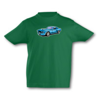 Kinder T-Shirt Muscle Car Kinder T-Shirt Modellnummer 001636-902-998  grün/farbiger Aufdruck