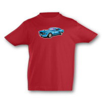 Kinder T-Shirt Muscle Car Kinder T-Shirt Modellnummer 001636-904-998  rot/farbiger Aufdruck
