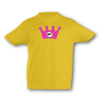 Kinder T-Shirt Piraten Krone Kinder T-Shirt Modellnummer 001649-020-998  goldgelb/farbiger Aufdruck