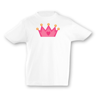 Kinder T-Shirt Pinke Krone Kinder T-Shirt