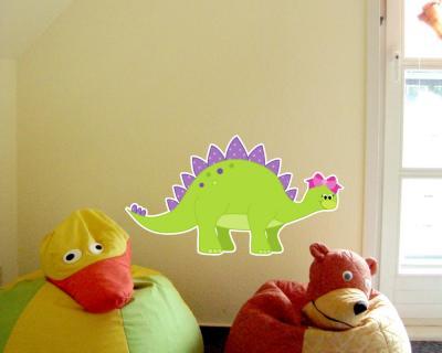 Stegosaurus dino wandtattoo wandaufkleber kinderzimmer - Wandtattoo dino ...