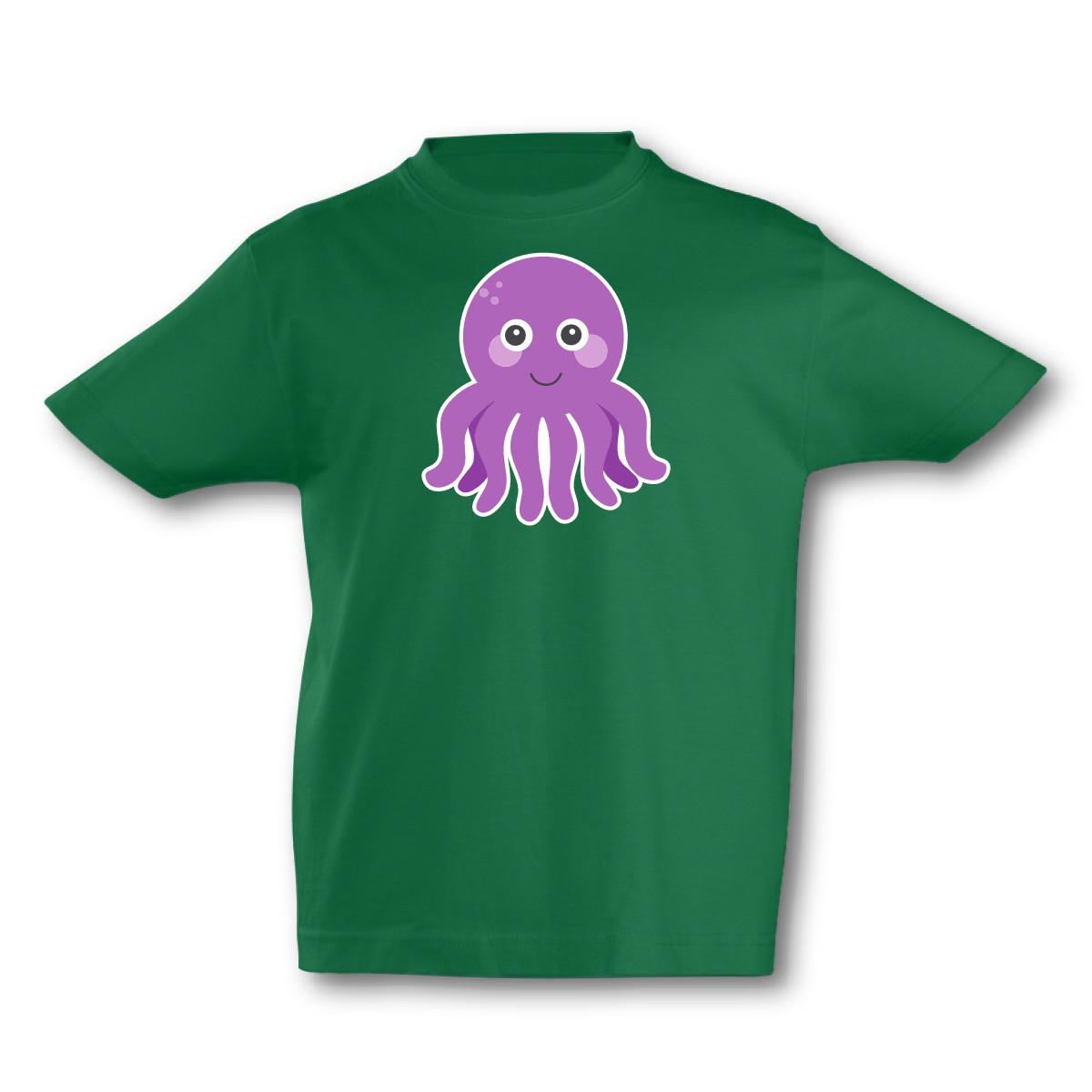 Kinder T-Shirt Süße Krake Tintenfisch Meer Tiere 7 Farben 94 - 128 ...