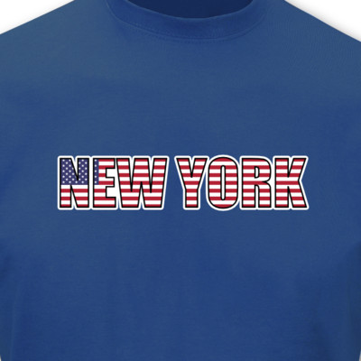 new york schriftzug t shirt usa amerika plot4u. Black Bedroom Furniture Sets. Home Design Ideas