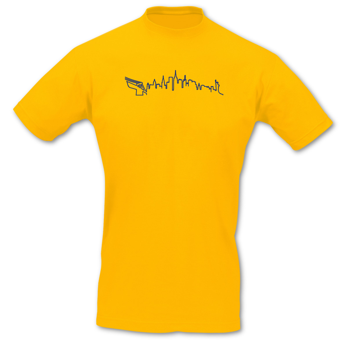 New-York-Silhouette-Skyline-T-Shirt-City-8-Farben-S-5XL