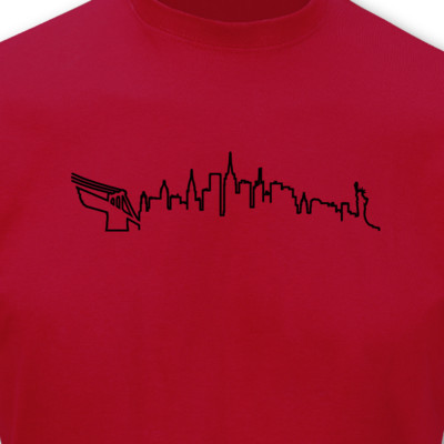 New York Skyline Silhouette T-Shirt T-Shirt