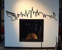 New York Skyline Wandtattoo Silhouette