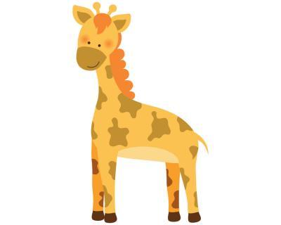 Giraffe Wandtattoo Wandaufkleber Kinderzimmer Safari | plot4u