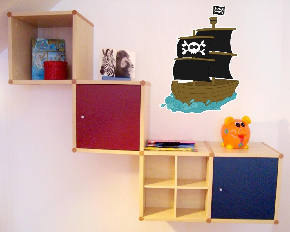 Piratenschiff wandtattoo wandaufkleber kinderzimmer for Wanddekoration babyzimmer