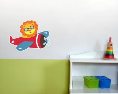 L we im flugzeug wandtattoo wandaufkleber kinderzimmer 2 gr en ebay for Erstaunlich kinderzimmer flugzeug