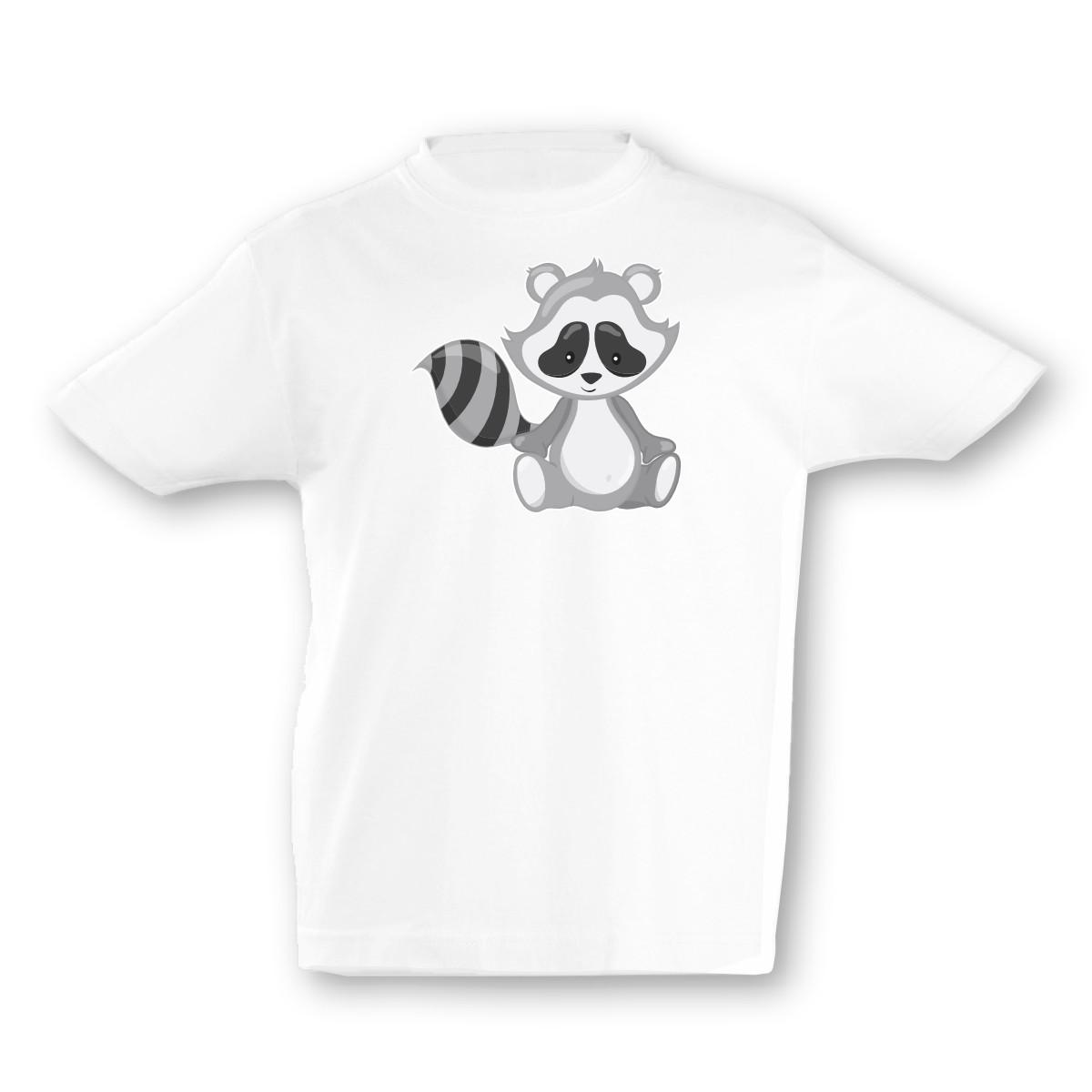 Kinder T-Shirt Süßer Waschbär 7 Farben 94 - 128 | eBay