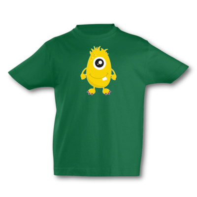 Kinder T-Shirt Gelbes Monster