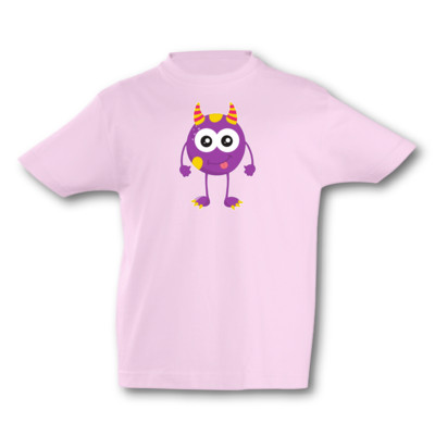 Kinder T-Shirt Lila Monster