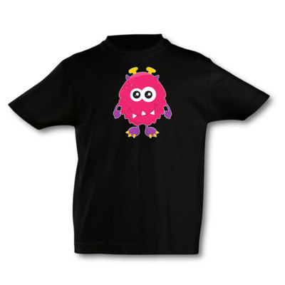 Kinder T-Shirt Pinkes Monster