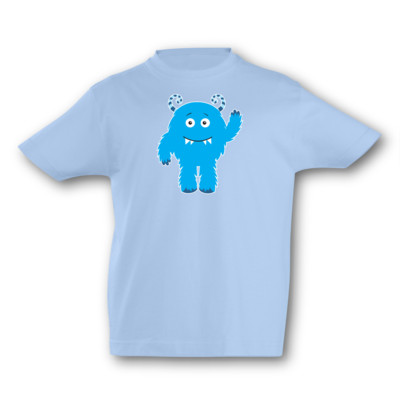 Kinder T-Shirt Blaues Monster