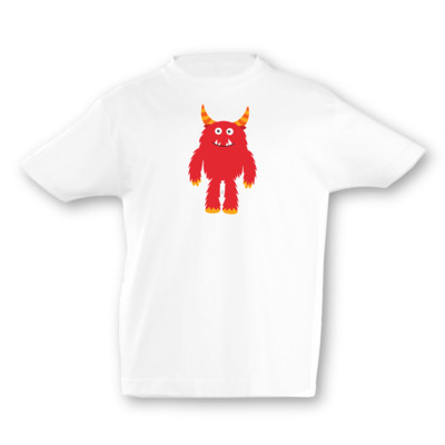 Kinder T-Shirt Rotes Monster