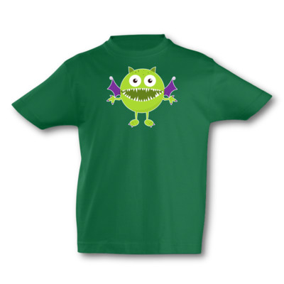 Kinder T-Shirt Grünes Monster