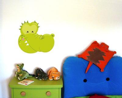 Tiergesicht krokodil wandtattoo wandaufkleber kinderzimmer - Krokodil wandtattoo ...