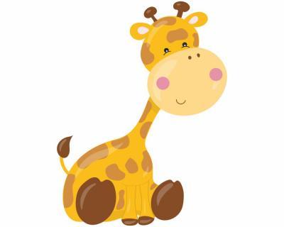 Süße Giraffe Wandtattoo Wandaufkleber Kinderzimmer   plot4u