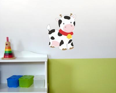 S E Kuh Wandtattoo Wandaufkleber Kinderzimmer Bunt 6