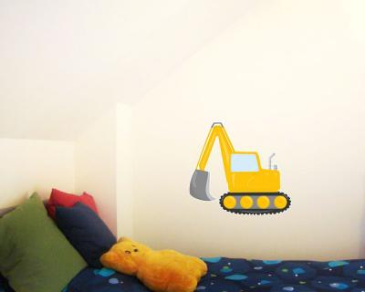 cooler bagger baustelle wandtattoo wandaufkleber kinderzimmer plot4u. Black Bedroom Furniture Sets. Home Design Ideas