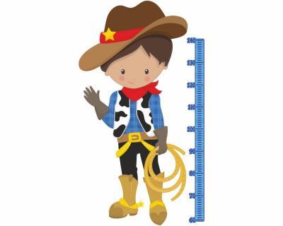 Messlatte cowboy wandtattoo kinderzimmer meterma ma band plot4u - Wandtattoo cowboy ...
