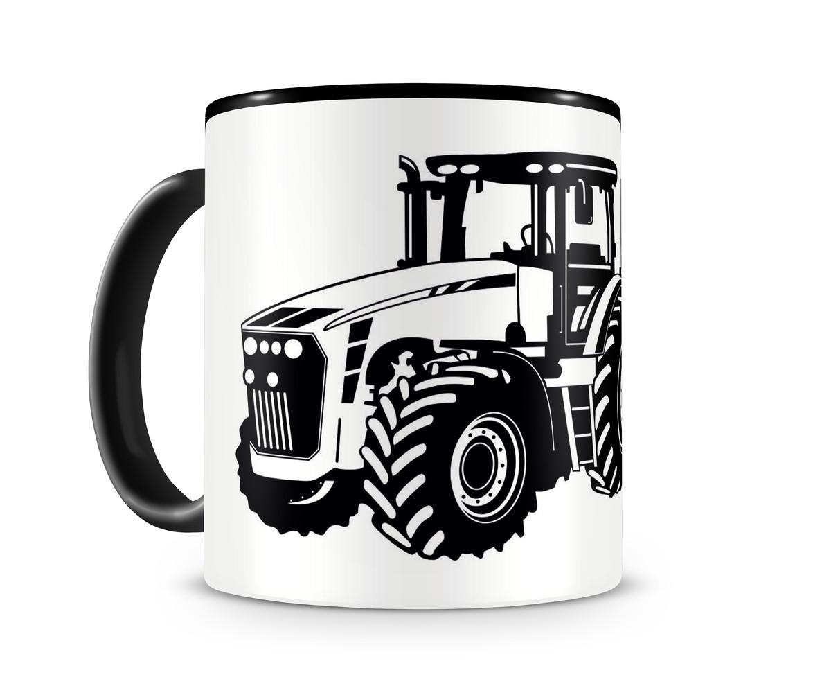 traktor mit anh nger trecker tasse kaffeetasse teetasse. Black Bedroom Furniture Sets. Home Design Ideas
