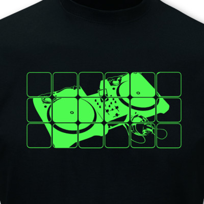 T-Shirt Turntables neon T-Shirt