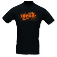 T-Shirt Turntables neon T-Shirt Modellnummer 100911-070-442  schwarz/neon orange