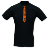 Krawatten T-Shirt Musik Smiley neon T-Shirt Modellnummer 101239-070-442  schwarz/neon orange