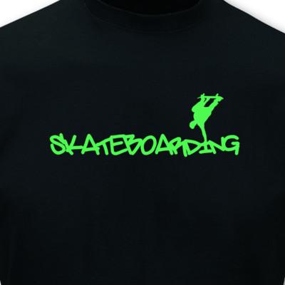 t shirt skateboarding schriftzug neon plot4u. Black Bedroom Furniture Sets. Home Design Ideas