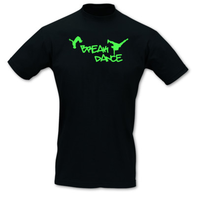 T-Shirt Breakdance Neonfarben