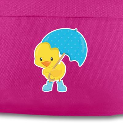 kinder rucksack küken mit regenschirm für schule und freizeit | plot4u