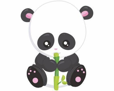 panda mit bambus wandtattoo wandaufkleber 6 gr en ebay. Black Bedroom Furniture Sets. Home Design Ideas