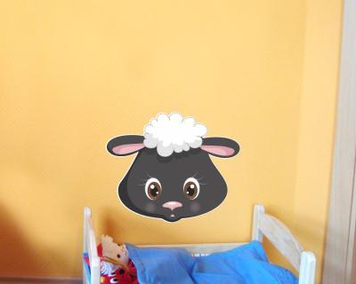 Wandtattoo Tiergesicht Schaf Baby Tiere Kinderzimmer