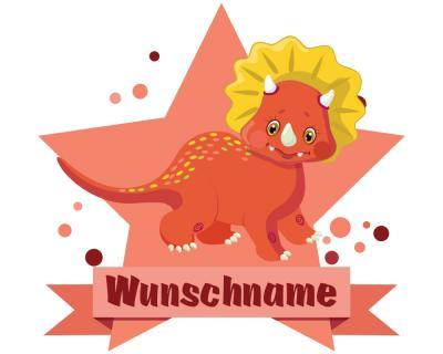 Roter Dino Aufkleber Mit Namen Autoaufkleber Namensaufkleber Kinder