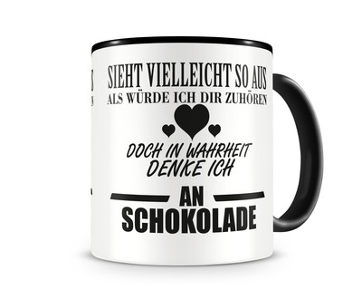 ich denke an schokolade tasse kaffeetasse teetasse kaffeepott kaffeebecher becher plot4u. Black Bedroom Furniture Sets. Home Design Ideas