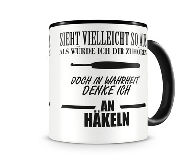 Ich denke an Häkeln Tasse Kaffeetasse Teetasse Kaffeepott ...