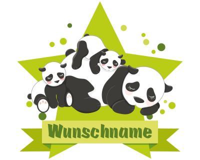 kuschelnde panda b ren aufkleber mit namen autoaufkleber namensaufkleber kinder plot4u. Black Bedroom Furniture Sets. Home Design Ideas